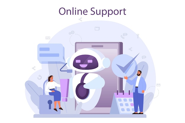 Technical support concept. idea of customer service. consultant support clients and help them with problems. providing customer with valuable information.