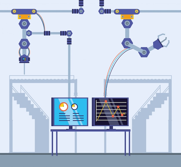 Technified factory scene
