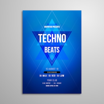 Techno music festival poster