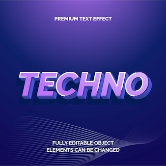 Techno premium text effect