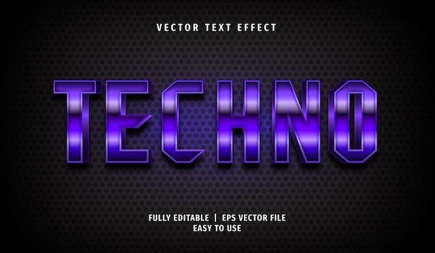 Techno text effect, editable text style