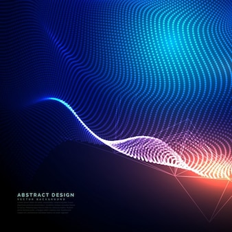 Technological abstract background with a mesh of dots