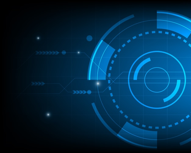 Technological background with abstract shapes Free Vector