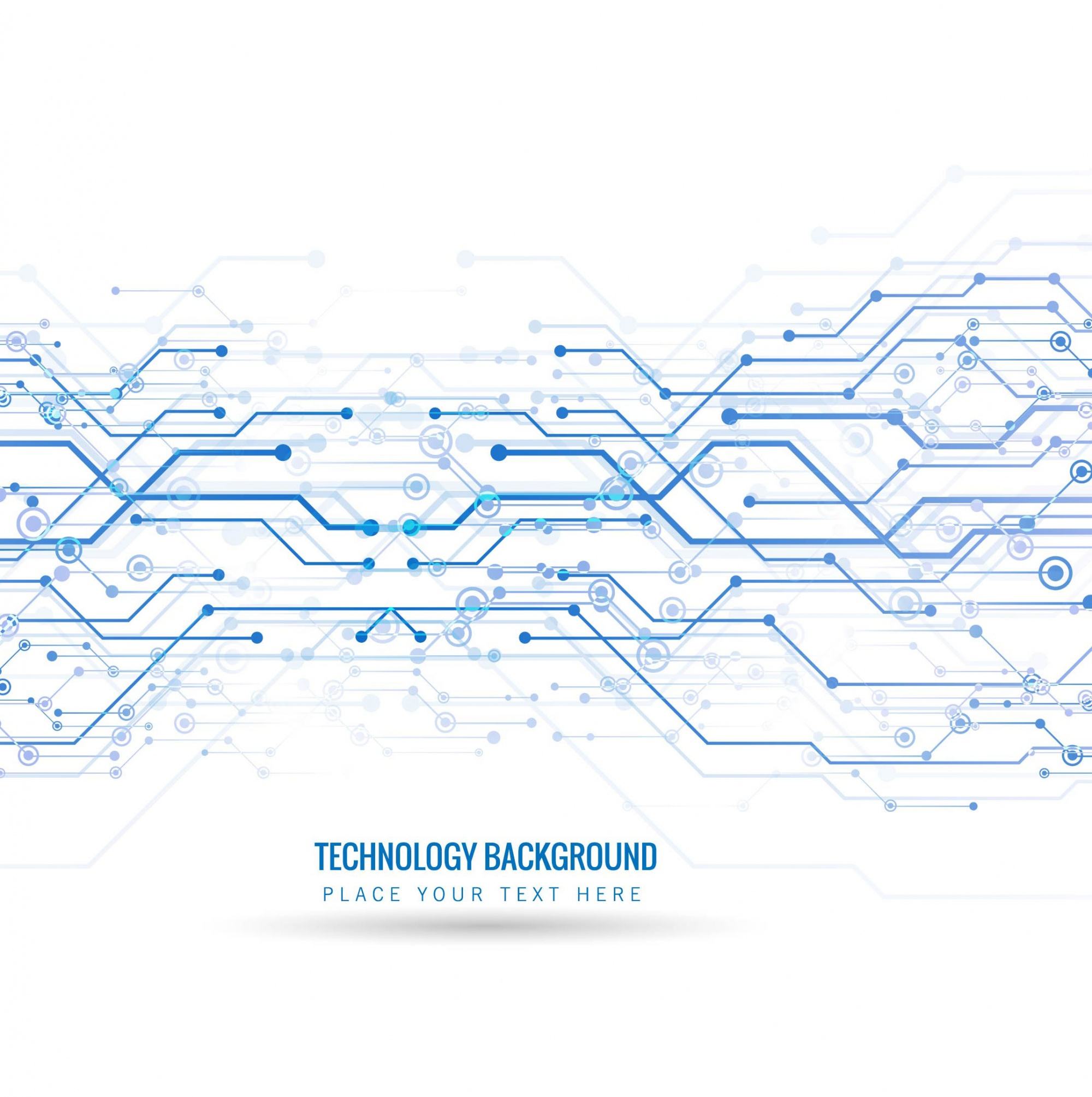 Technological background with blue lines and dots