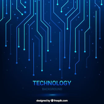 Sfondo tecnologico con linee