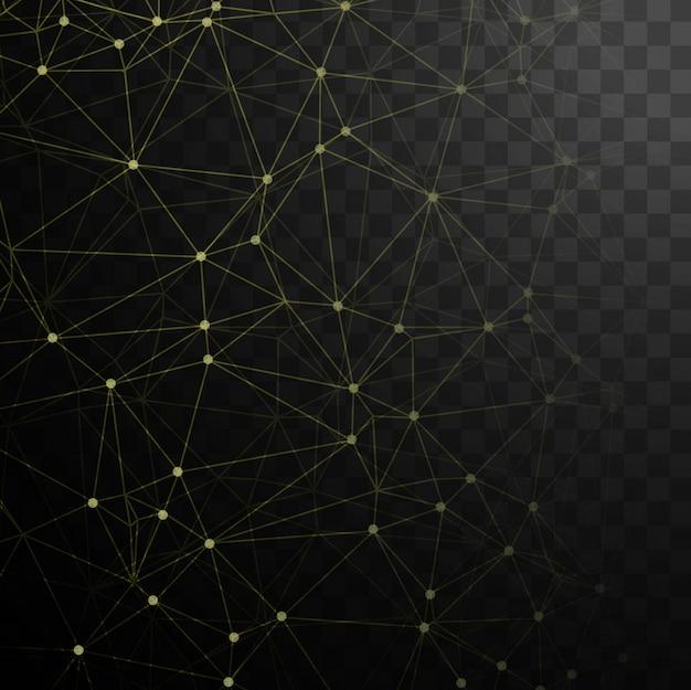 점과 노란색 선으로 기술 검은 배경
