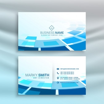 Technological business card, blue color