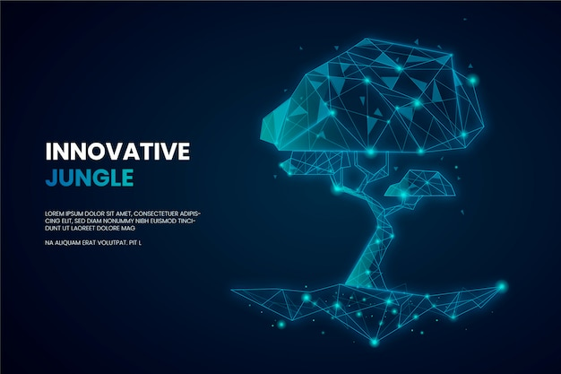 Technological ecology concept theme