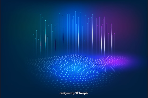 Технологические падающие частицы темного фона