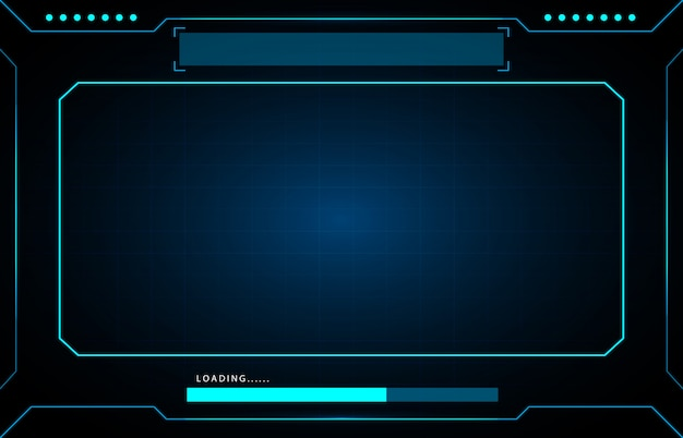 Technological frame futuristic hud