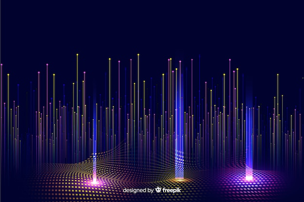 Technological gradient falling particles background