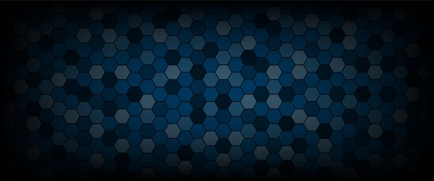 Technological hexagon pattern background