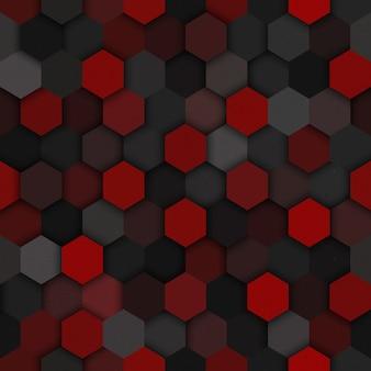 Technological hexagons seamless pattern