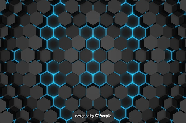 Technological honeycomb background abstract design
