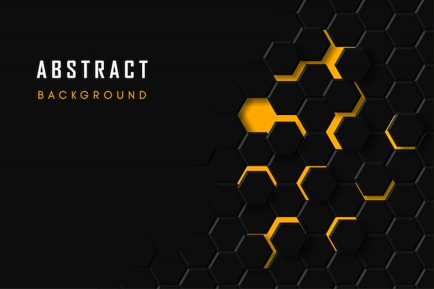 Technological honeycomb background, abstract geometric hexagon