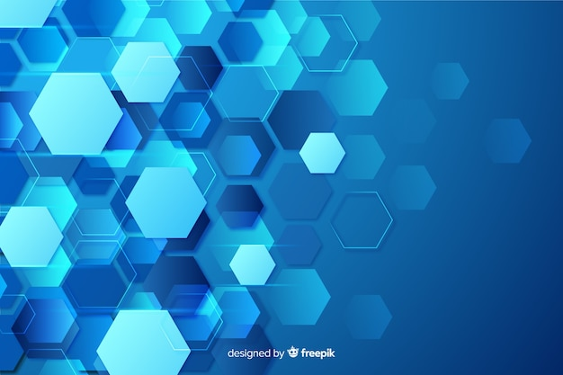 Technological honeycomb background flat design