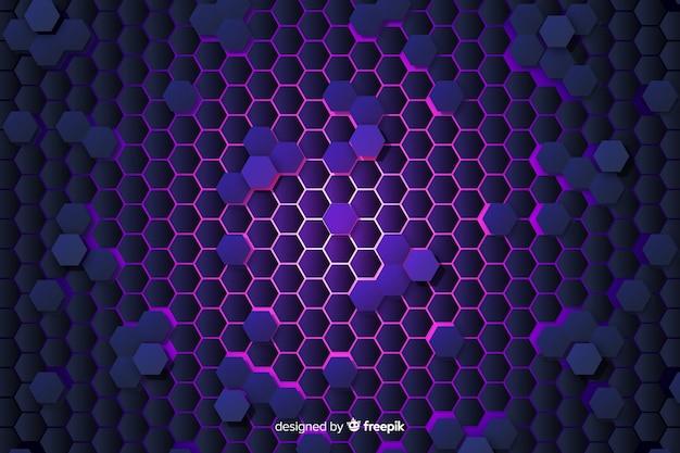 Technological honeycomb background