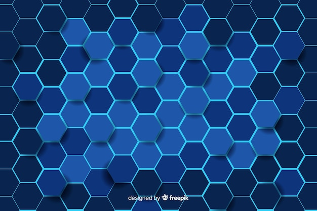 Technological honeycomb pattern background