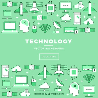 Technological icons background