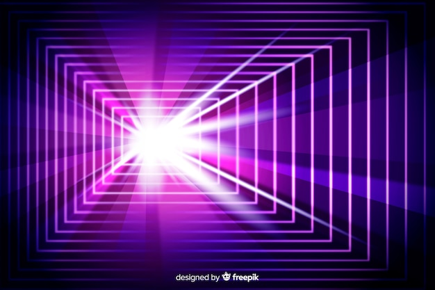 Technological light tunnel futuristic background