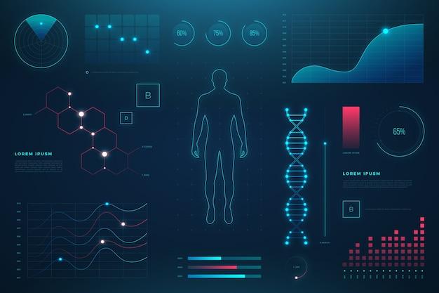 Технологическая медицинская инфографика с деталями