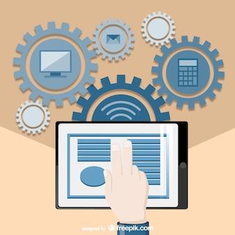 Technological office vector