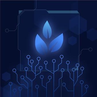 Технологический стиль для концепции экологии