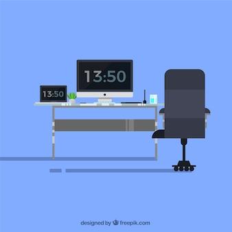 Фон технологического рабочего пространства