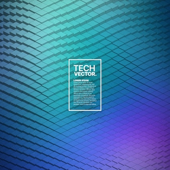 Technology 3d waveform abstract vector background