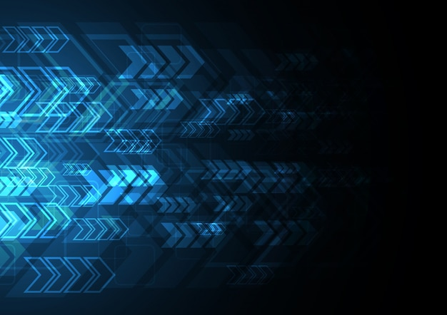 Technology abstract arrow background