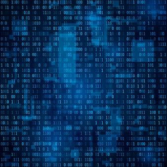Абстрактный фон технологии. бинарный код. шифрование и кодирование данных. иллюстрация