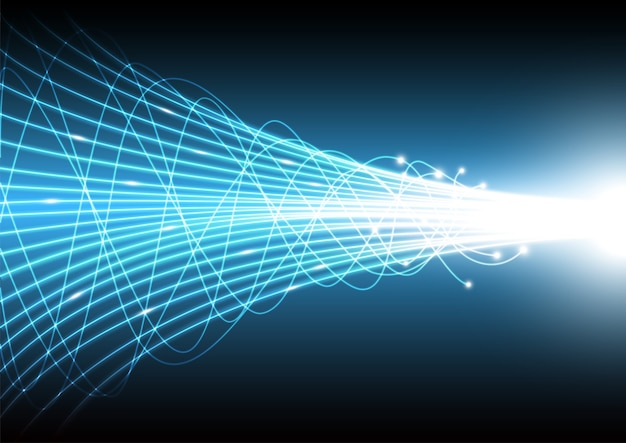 Technology abstract background with beam glowing line