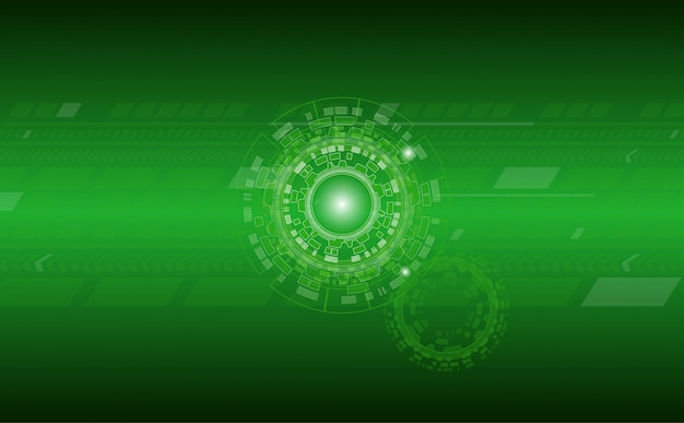Technology abstract background with circle and line pattern