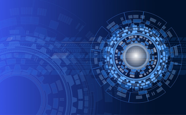 Technology abstract background with circles and line