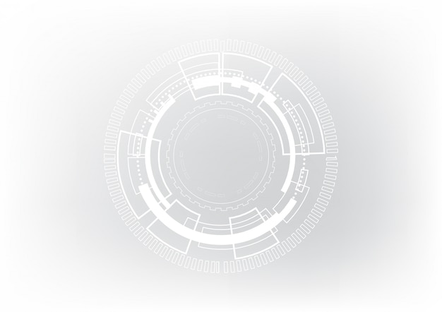 Technology abstract circle background