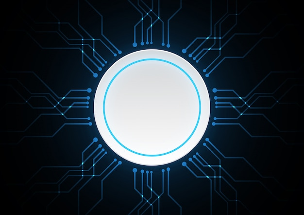Technology abstract circle circuit vector background