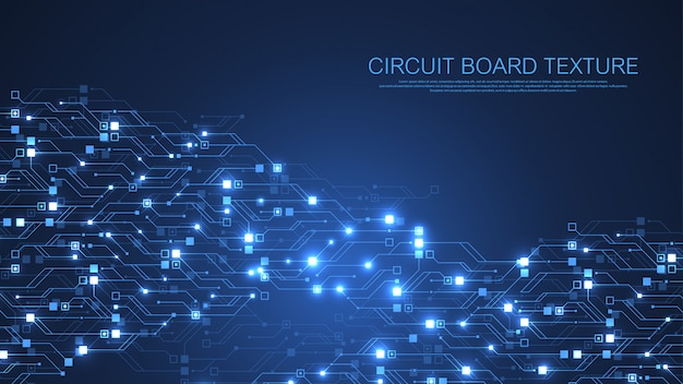 Technology abstract circuit board background. high-tech futuristic circuit board  . digital data. engineering electronic motherboard. minimal array big data