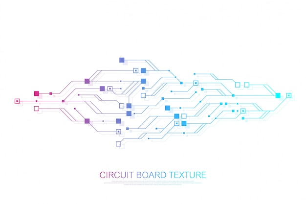 Technology abstract circuit board engineering electronic motherboard concept.