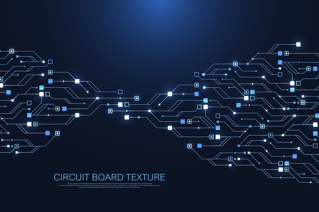 Technology abstract circuit board texture background. high-tech futuristic circuit. Premium Vector