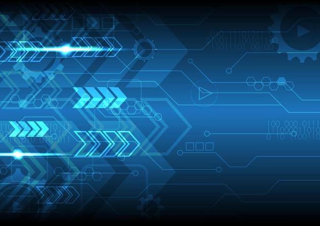 技術抽象的なデジタル未来現代矢印回路背景図
