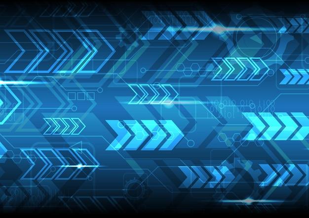 技術抽象的なデジタル未来現代矢印回路の背景