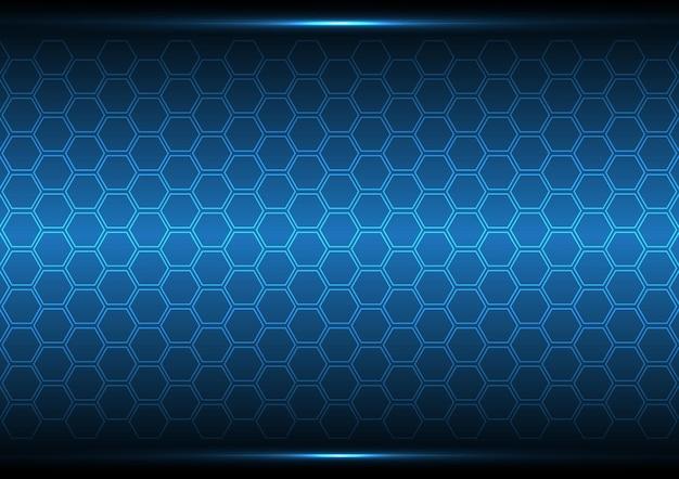 技術抽象的なデジタル未来現代六角形の背景図