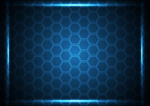 Technology abstract digital future modern hexagonal background