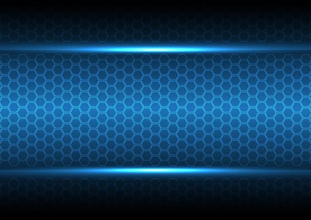 テクノロジー抽象的なデジタル未来現代の六角形の背景