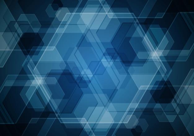 Technology abstract digital modern future hexagonal background