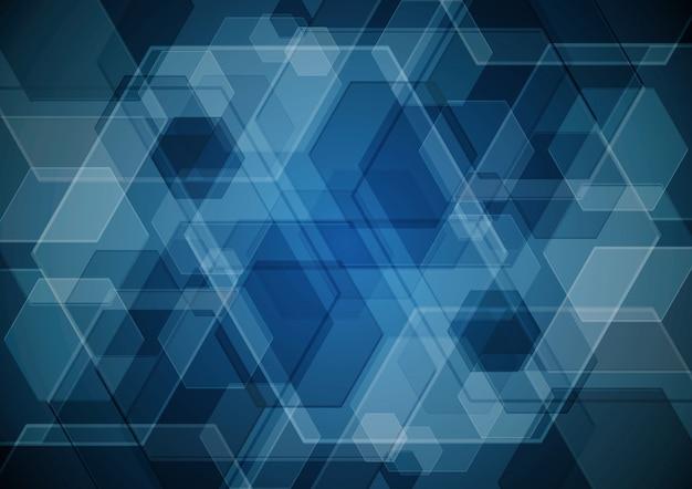 技術抽象的なデジタル現代未来六角形