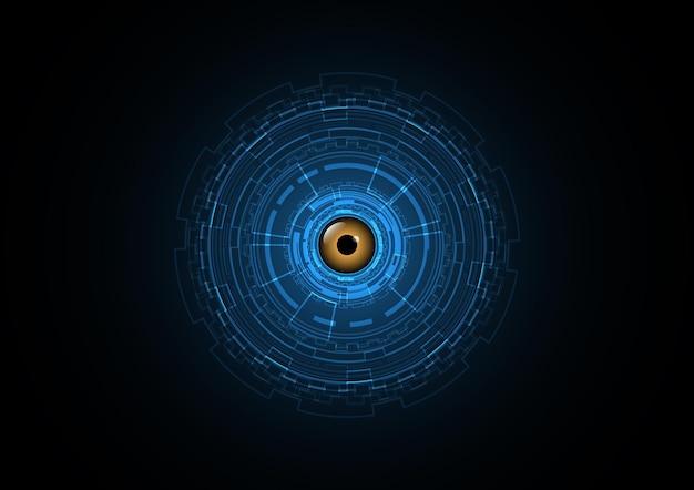 Technology abstract eye future circle