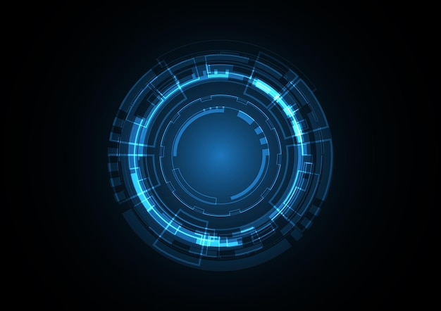 Technology abstract future circle background   illustration