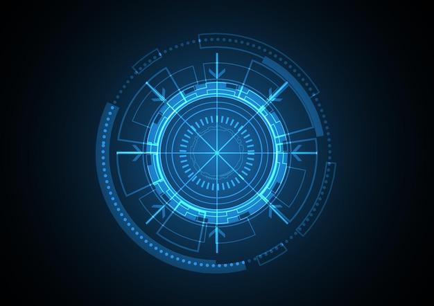 Technology abstract future circle background   illustration Premium Vector