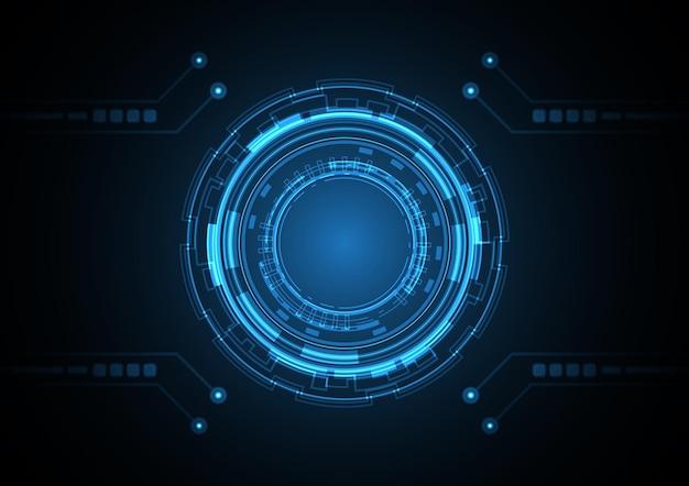 技術抽象的な未来の円の背景図